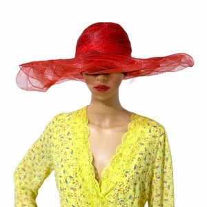 Vintage red huge hat